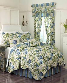 Floral Flourish 4-piece Full/Queen Quilt Set