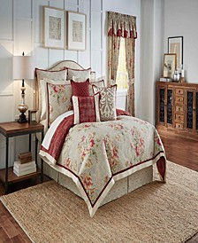 Waverly Fresco Flourish 4 Piece Reversible Full/Queen Comforter Set