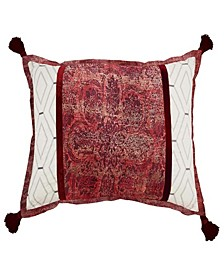 Fresco Flourish Pieced Decorative Accessory Pillow