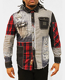 Heritage America Men's Patched Woven Shirt