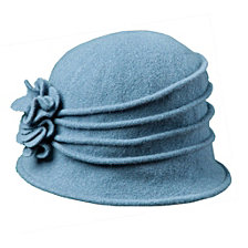 Scala Knit Wool Cloche with Flower