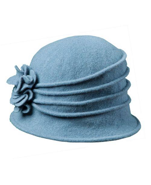 55209ecbe50 Scala Knit Wool Cloche with Flower - Women - Macy s