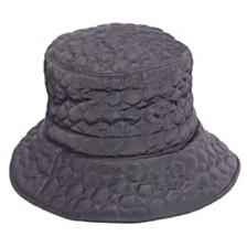 Scala Quilted Big Brim Rain Hat