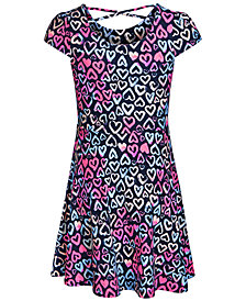 Epic Threads Super Soft Big Girls Heart-Print Fit & Flare Dress, Created for Macy's