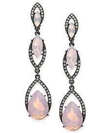 I.N.C. Stone & Crystal Triple Drop Earrings, Created for Macy's
