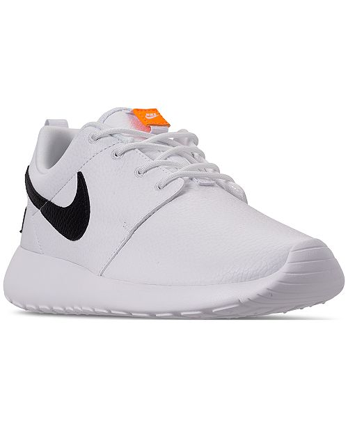 sports shoes b92ae cffb3 ... Nike Women s Roshe One Premium Just Do It Casual Sneakers from Finish  ...