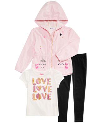 Little Girls Hooded Unicorn-Pocket Jacket, Created for Macy's