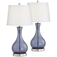 Pacific Coast Blue Glass Table Lamp - Set of 2