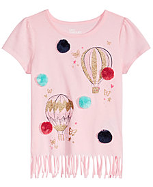Epic Threads Little Girls Graphic-Print Fringe T-Shirt, Created for Macy's
