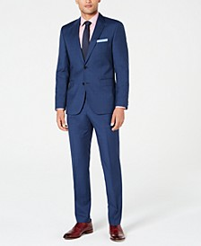 HUGO Men's Modern-Fit Plaid Suit Separates