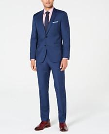 HUGO Men's Modern-Fit Plaid Suit Separates