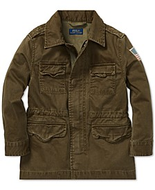 Toddler Boys Herringbone Cotton Jacket