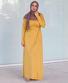 Verona Collection Knot-Front Maxi Dress