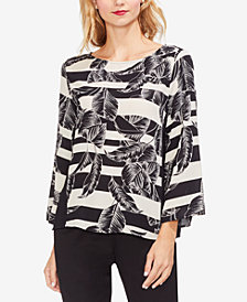Vince Camuto Printed Bell-Sleeve Blouse