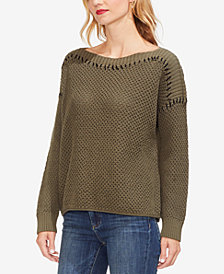 Vince Camuto Cotton Boat-Neck Sweater