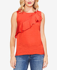 Vince Camuto Ruffle-Front Shell