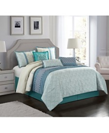 Sandrine 7-Piece California King Comforter Set