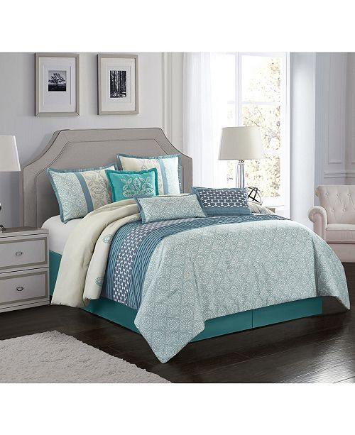 Nanshing Sandrine 7-Piece California King Comforter Set