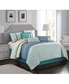 Sandrine 7-Piece Queen Comforter Set