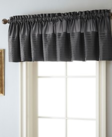 "Landford Rod Pocket Top Curtain Valance, DarkRed, 54 x 18"""