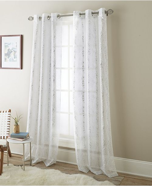 Nanshing Prisma Semi Sheer Grommet Curtain Panel Pair ...