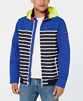 8203a53de7e Tommy Hilfiger Men s Tiller Colorblocked Stripe Hooded Yacht Jacket