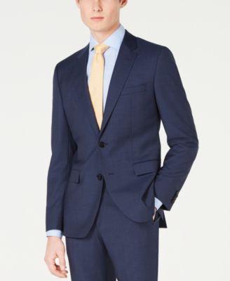 HUGO Men's Slim-Fit Mini-Check Jacket