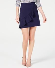 Maison Jules Ruffled Mini Skirt, Created for Macy's