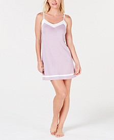 Pima Cotton Constrasting Tim Nightgown, Created for Macy's