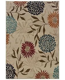 "CLOSEOUT! Oriental Weavers  Adrienne 4142A Stone/Multi 6'7"" x 9'6"" Area Rug"