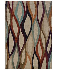 "Oriental Weavers Adrienne 4178B Stone/Multi 3'10"" x 5'5"" Area Rug"