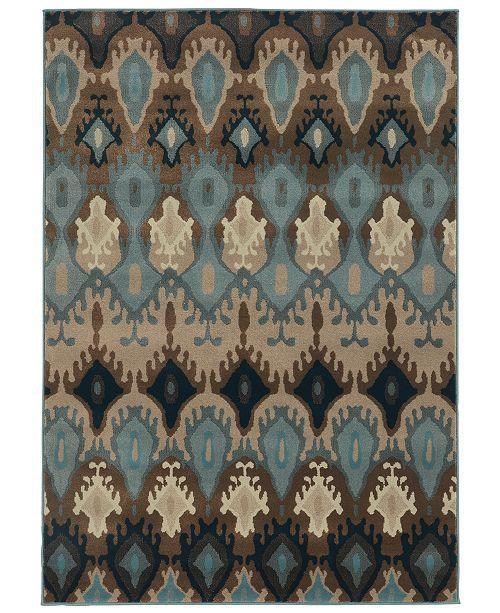 "Oriental Weavers CLOSEOUT!  Adrienne 4633A Blue/Stone 3'10"" x 5'5"" Area Rug"