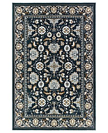 "Bowen 534L2 Navy/Gold 7'10"" x 10'10"" Area Rug"
