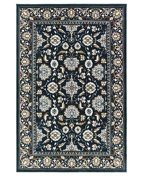 "Oriental Weavers Bowen 534L2 Navy/Gold 7'10"" x 10'10"" Area Rug"