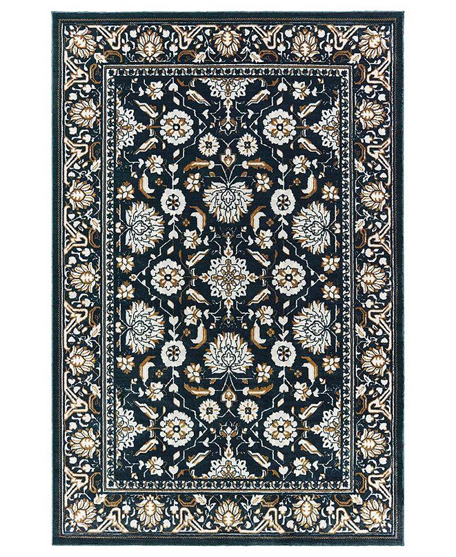 """Oriental Weavers Bowen 534L2 Navy/Gold 3'10"""" x 5'5"""" Area Rug"""