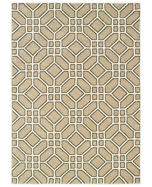 "Oriental Weavers Carson 9669D Sand/Ivory 3'10"" x 5'5"" Area Rug"