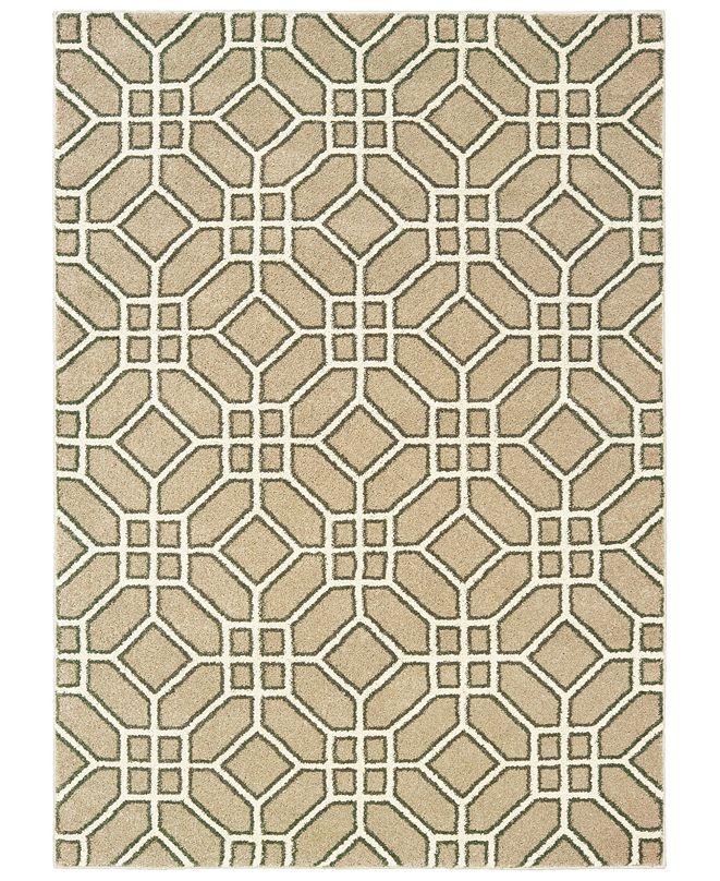 "Oriental Weavers Carson 9669D Sand/Ivory 7'10"" x 10' Area Rug"