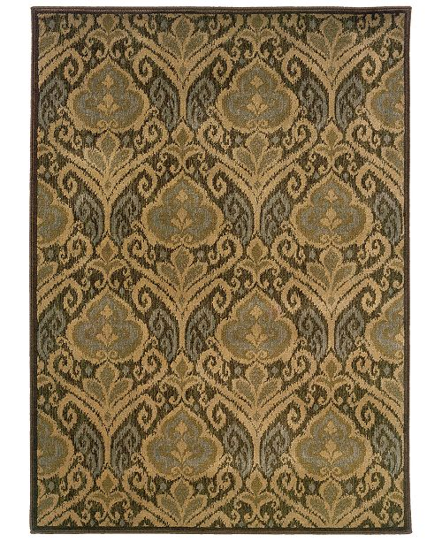 """Oriental Weavers CLOSEOUT!  Casablanca 4464A Green/Ivory 6'7"""" x 9'6"""" Area Rug"""