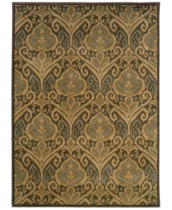 "Oriental Weavers - Casablanca 4464A Green/Ivory 7'10"" x 10'10"" Area Rug"