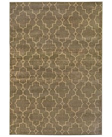 "CLOSEOUT! Oriental Weavers  Casablanca 5329B Brown/Ivory 9'10"" x 12'10"" Area Rug"