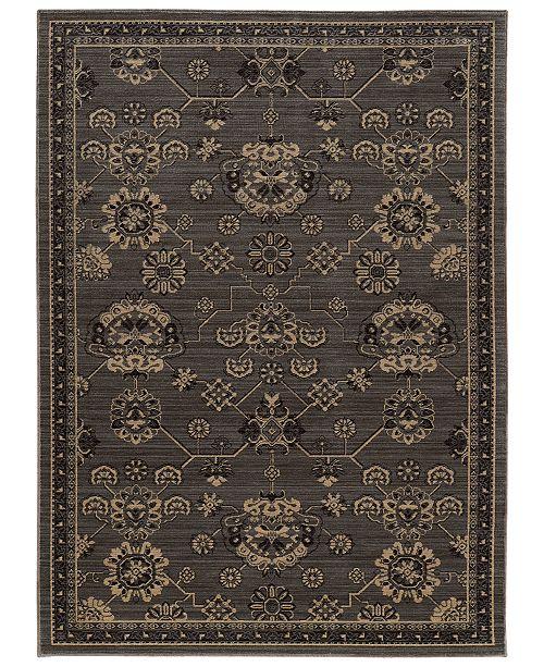 "Oriental Weavers Foundry 4923E Gray/Charcoal 5'3"" x 7'6"" Area Rug"