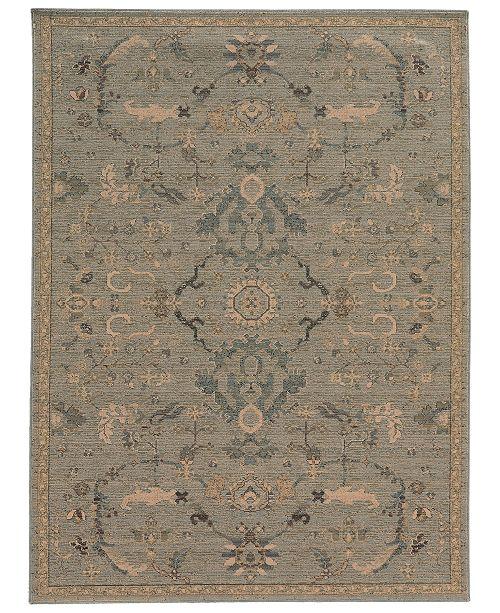"Oriental Weavers Heritage 533L5 Blue/Beige 3'10"" x 5'5"" Area Rug"