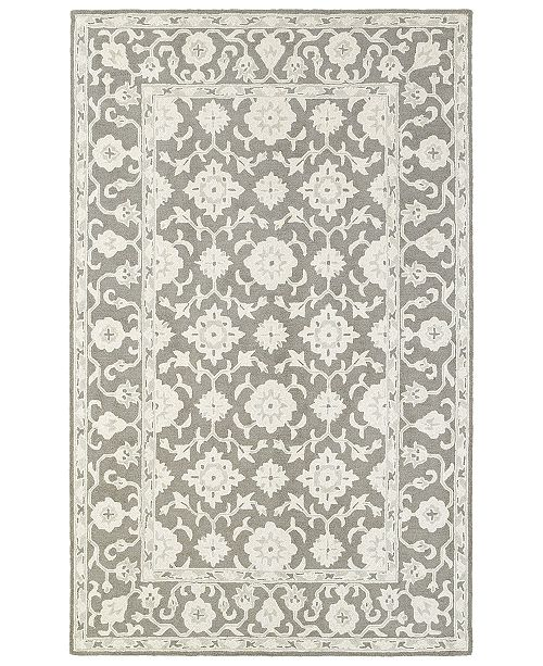 Oriental Weavers Manor 81204 Gray/Stone 10' x 13' Area Rug