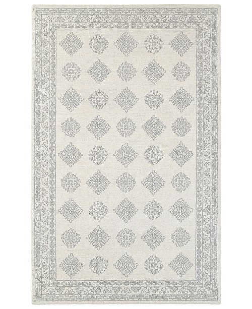 Oriental Weavers Manor 81207 Gray/Beige 5' x 8' Area Rug
