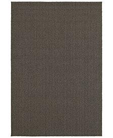 """Oriental Weavers Santa Rosa 520H8 Charcoal/Gray 9'10"""" x 12'10"""" Indoor/Outdoor Area Rug"""