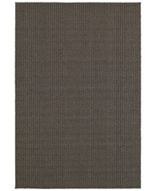 "CLOSEOUT! Oriental Weavers  Santa Rosa 520H8 Charcoal/Gray 9'10"" x 12'10"" Indoor/Outdoor Area Rug"
