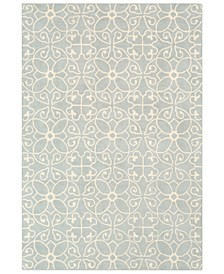 Scott SCT-1013 Light Gray 6' x 9' Area Rug