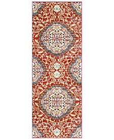 "Serapi SRP-1021 Dark Red 2'7"" x 7'3"" Runner Area Rug"