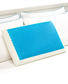 Comfort Revolution Cool Comfort Hydraluxe Standard Pillow, Gel & Custom Contour Open Cell Memory Foam
