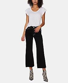 Sanctuary Non Conformist Wide-Leg Capri Jeans